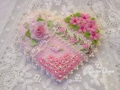 Crazy+Quilt+Valentine+pin+with++Victorian+charm+by+GlosterQueen,+$37.00