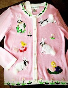 Victoria Harbour Bunny Easter Sweater Size Medium | eBay $34.99