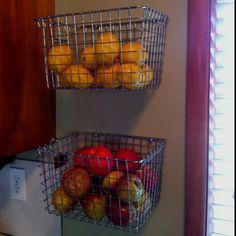 DIY Hanging Fruit Basket (2 locker baskets)!