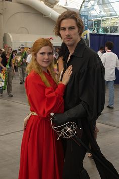 Buttercup and Wesley from Princess Bride