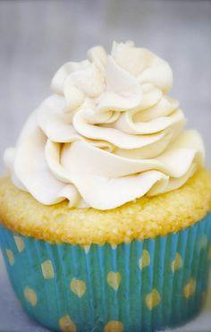 Vanilla Almond Cupcakes with Caramel Buttercream