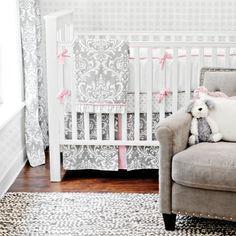 grey damask nursery