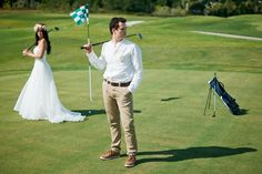 golf! wedding-photo