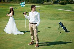 golf! wedding-photo