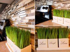 We love love love this kitchen tile backsplash! #kitchen
