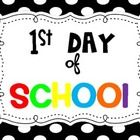 This is a super cute way to create adorable first day of school photos. Students hold the sign while you take their photos. Signs can be used for 1... school photos