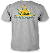 Celebrate the 100th Anniversary of GAs! Get the #GA100 t-shirt. It has the Arise graphic on the back and the vintage GA badge on the front. http://www.lifeway.com/Product/ga-classic-t-shirt-m00000303