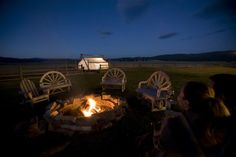 """""""Glamping"""" at The Resort at Paws Up in Montana          Beautiful locale!"""