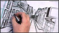 draw, colleges, free tutori, art, pender street, one point perspective, 626, citi, tutori onlin