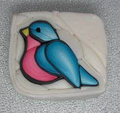 Polymer Clay Bluebird Cane by auntgriz, via Flickr