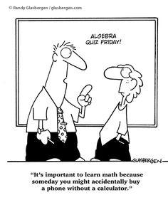 math comic, funni glasbergen, accident buy, calcul, math funni, math humor, math idea, learn math, math cartoon