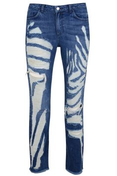 Marques'Almeida x Topshop Animal Printed Shredded Jeans, $180, available October 9 at Topshop.