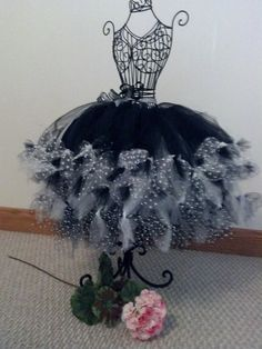 CUTE!!!!!!       Black and White Petti Tutu, Custom Made-To-Order Tutu. $42.00, via Etsy.