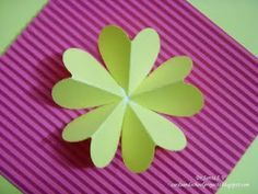 Cards ,Crafts ,Kids Projects: Quick and Easy Heart Punch Flower Tutorial