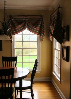 super easy window treatment made with a glue gun and safety pins