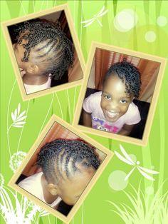 Little girl natural mohawk