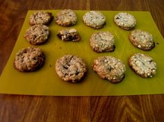 Chocolate Chip Oatmeal Flax Seed Cookies....I have so much flaxseed to be used!