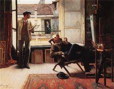 The Neighbours, 1881, William Henry Bartlett. English Painter, Engraver (1809 - 1854)
