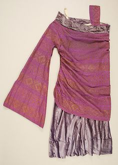 [Paul Poiret] (French) Silk Evening Dress (1923)