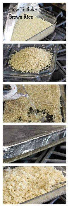 Learn how easy (and tasty!) it is to bake brown rice in the oven   5DollarDinners.com