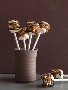 Marshmallow S'mores Pops are a perfect weekend cookout treat.