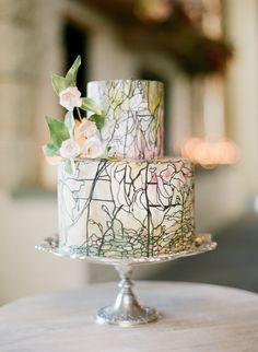 stained glass wedding cake #wedding #cake #weddingcake #beautiful