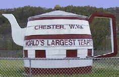 World's largest teapot. Chester, WV :)