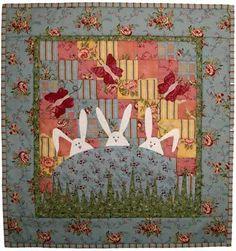 Bunnies patchwork, sew, bunni quilt, eggs, quilt patterns, quilts, egg quilt, appliqu quilt, easter quilt
