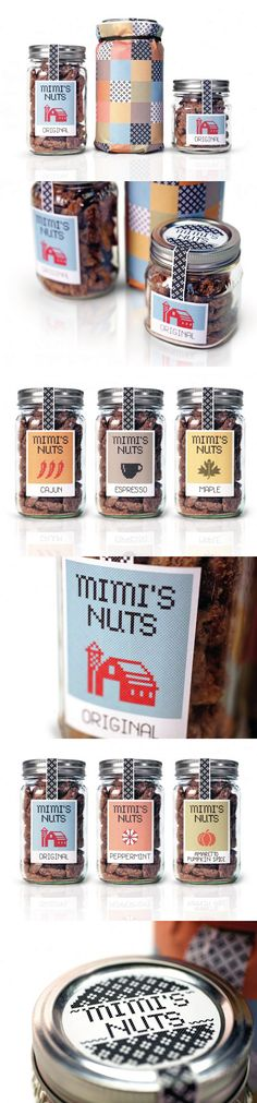 Unique Packaging Design on the Internet, Mimi's Nuts #packaging #packagingdesign #design
