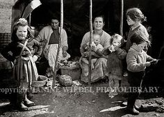Irish Tinker Traveller family living in bender style tent  Southern Ireland 1970's.