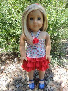No Pattern Ruffled Skirt for American Girl Dolls | Free Sewing Pattern for American Girl Dolls Cute