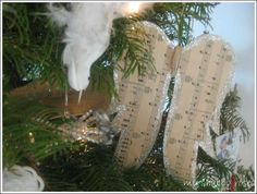 Sheet music angel wings - My Shabby Roses - #sheet #music #angel #wings #handmade #Christmas #ornaments #shabby #chic - tå√