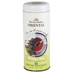 The Tea Nation Oriental Tea, White Tea, 50-Count Round Tea Bags (Pack of 3)