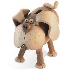 Standing Dog Coin Bank by LAFpottery on Etsy, $90.00