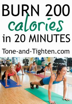 Burn 200 Calories in only 20 Minutes with this Full Body Workout on Tone-and-Tighten.com #workout #fitness