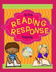 READING RESPONSE SHEETS NO-PREP PRINTABLES from The Primary Reader    on TeachersNotebook.com -  (35 pages)  - Reading Response sheets are terrific for checking understanding and developing skills.  In this pack of NO PREP Printables you�ll get �staple� and some novelty organizers and response sheets too.