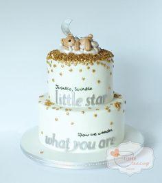 Sequin Gender Reveal - Cake by Jen La - Little Teacup Bakery