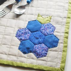 Quilted Berry Placemat // wild olive