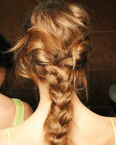 casual braid french braids, bridesmaids, messy hair, colors, long hair, hairstyl, braid hair, gym, thick hair