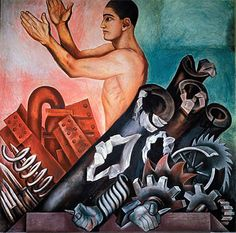 Jose Clemente Orozco - Man Released from the Mechanistic to the Creative Life.  Art Experience NYC  www.artexperiencenyc.com