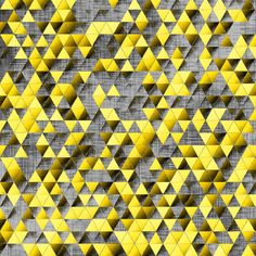 Golden and Gray Triangles fabric by pond_ripple on Spoonflower - custom fabric