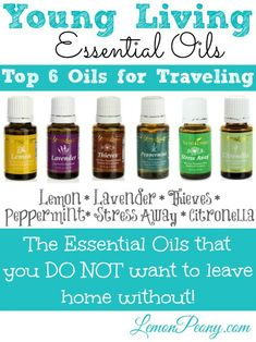 Young Living Essential Oils for Traveling! These are my go-to oils for on-the-go!