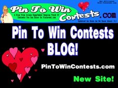 Find out about Contests to Enter on Pinterest on Jolene Sugarbaker's New Blog! http://www.PinToWinContests.com