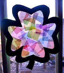 shamrock window art