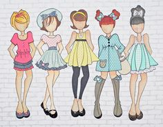 Round Here: Paper Doll Love!