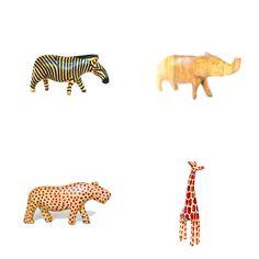 Carved Animal Set =