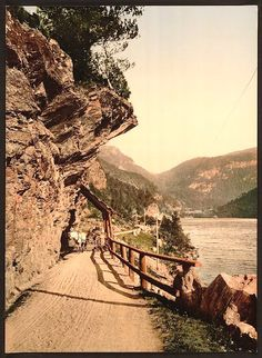 The road from Eide to Voss, Hardanger Fjord, Norway - 1890s