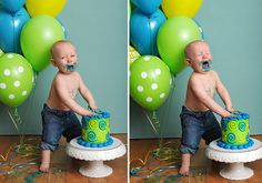 Daxton's one year old birthday party » Laura Bunker Photography