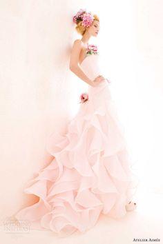pink bride, wedding dressses, pink wedding dresses, blush weddings, wedding dress pink, pink weddings, gown, pink wedding dressed, 2014 pink
