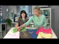 Eileen Roche of Designs in Machine Embroidery and @Nancy Zieman Designer Necklines - One Step T-Shirt Makeovers